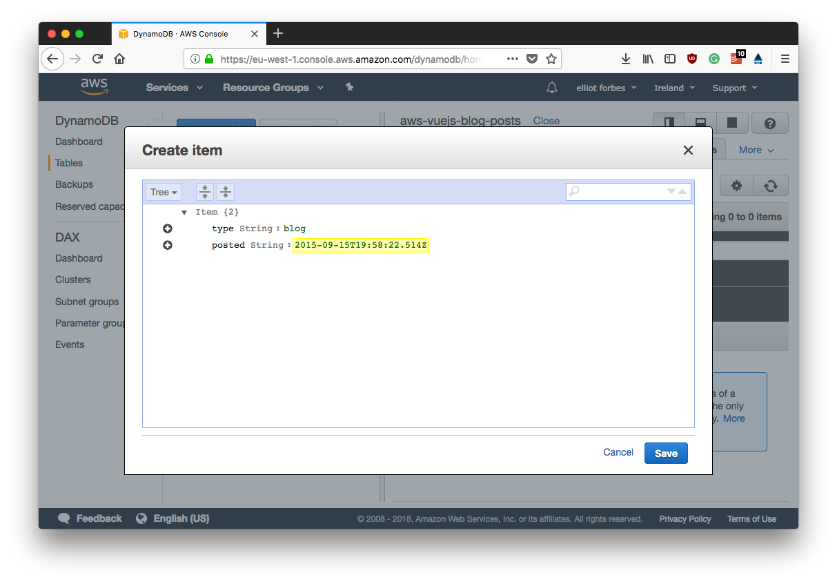 Part 4 - Setting Up Our Dynamodb Table   TutorialEdge net